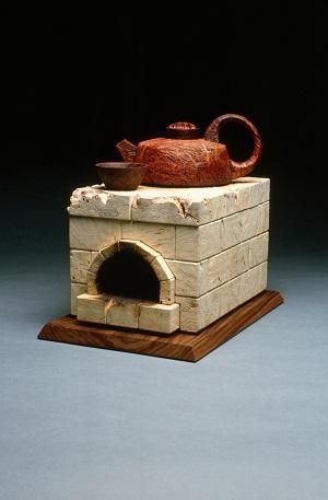 Kiln Tea Set, Jara Burl, Buckeye Burl