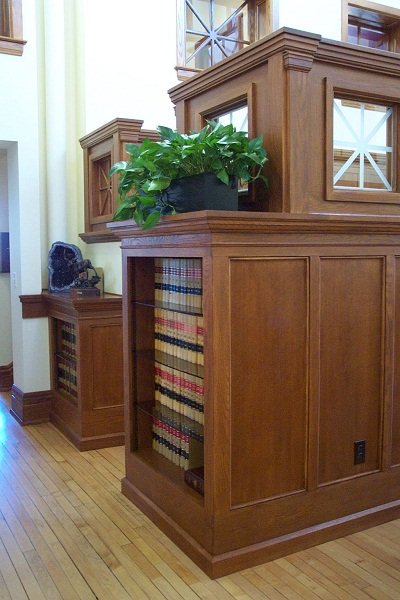 Oak Bookshelves, Law Office